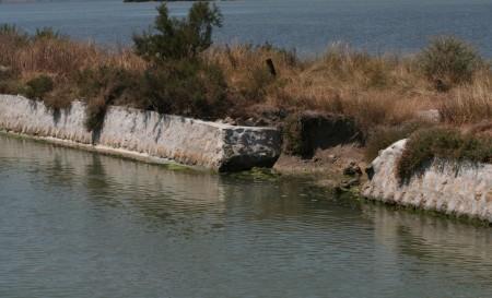 digue canal-étang camargue