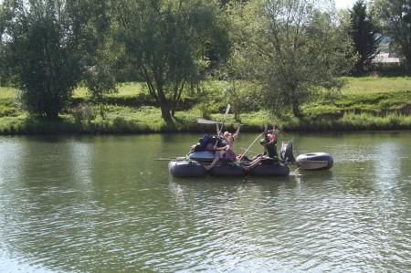 embarcation sur la Saône