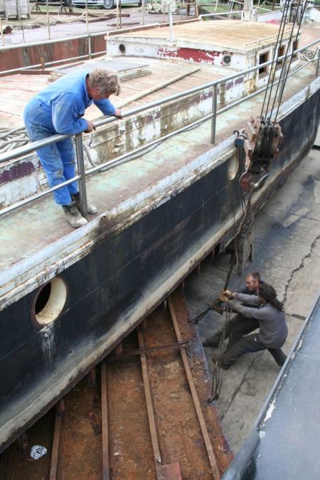 changer le fond d'un bateau