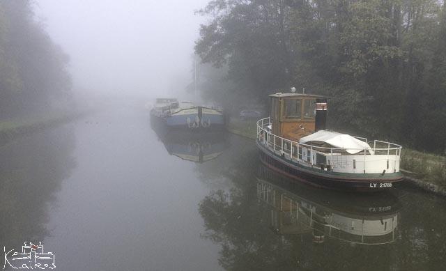 matin sur le canal du centre