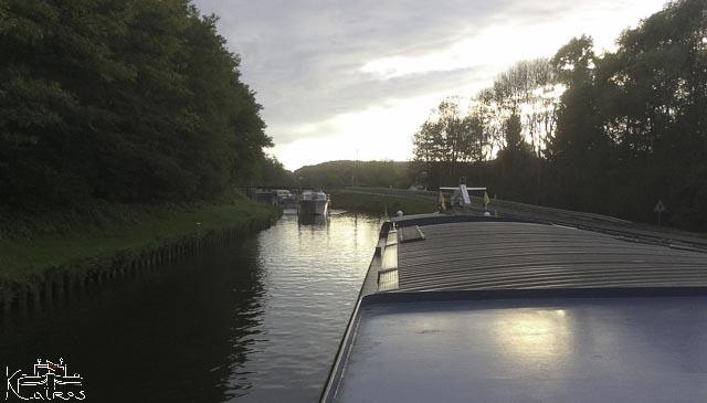 navigation d'automne canal du centre