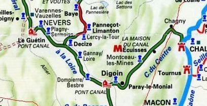 Canal du centre et lateral à la Loire