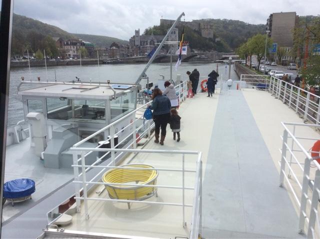 bateau école ville de Liège à Huy