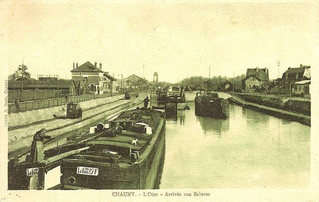 Chauny - L'Oise - Arrivée aux écluses-640