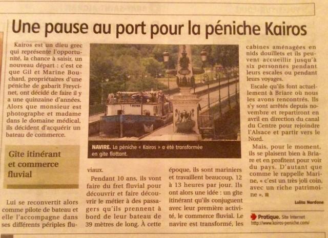 Journal Mme Nardone peniche Kaïros